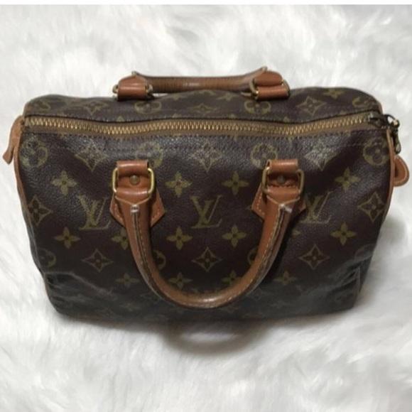 Louis Vuitton Handbags - RARE LV French Company Speedy 25 Louis Vuitton 1c8ffa71bb612